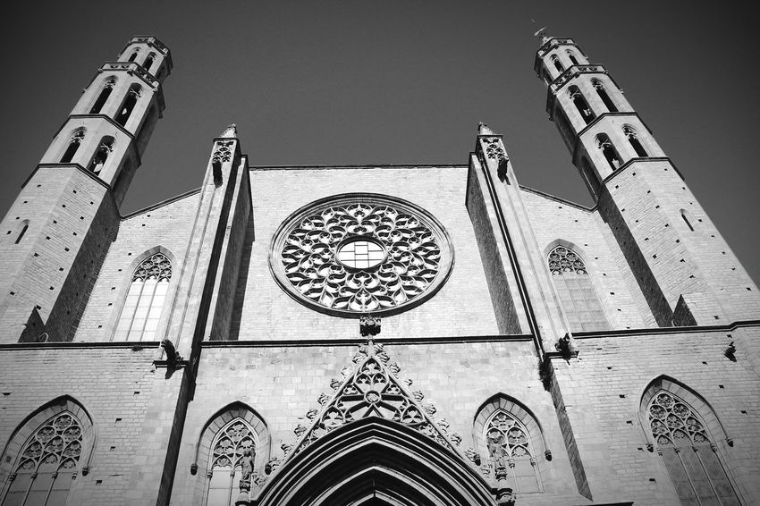 Standing strong. Still. Ancient Building Barcelona Black And White