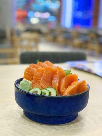 Salmon sashimi set Japanese Food Sliced Salmon Sashimi Food And Drink Healthy Eating Food Wellbeing Freshness Bowl
