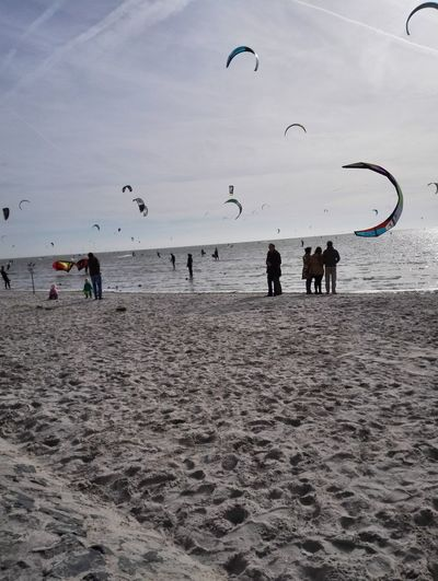 Kite Surfing op het Mirnserklif Friesland Sky