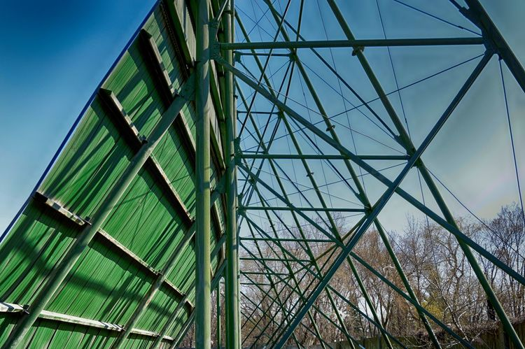 Abstract Photography Architecture Artiseverywhere Building Exterior Built Structure Cinema Close-up Day Drive-in Theater EyeEmBestPics EyeEmNewHere Green Color Low Angle View Metal MOVIE Movie Theater No People Outdoors Scaffolding Sky