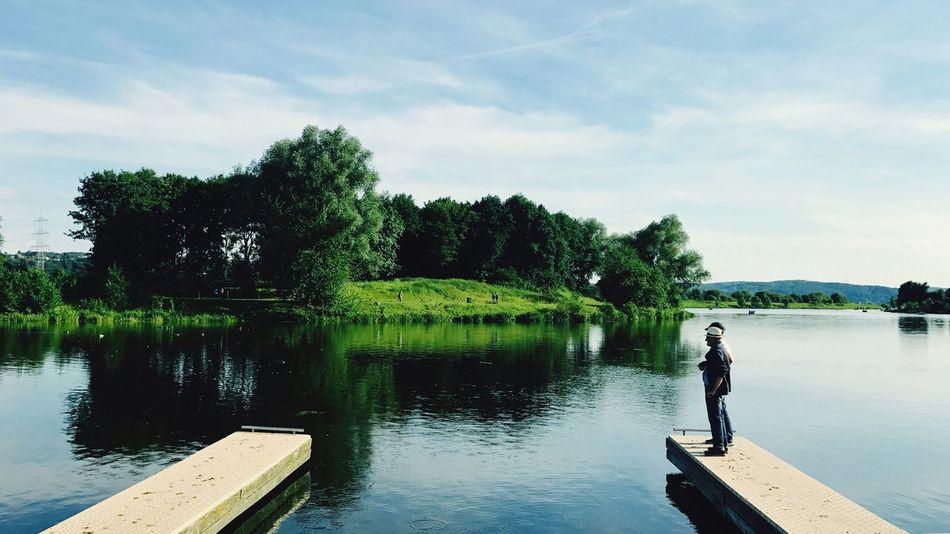 Landscape IPhone Lake Someone