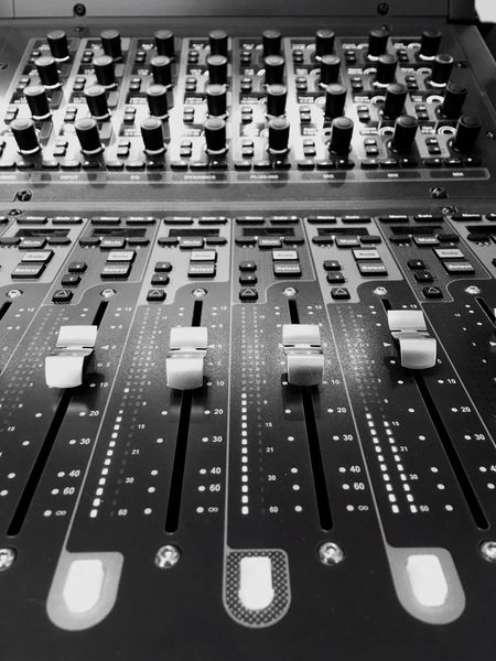 Sound Mixer Sound Recording Equipment Music Mixing Control Control Panel Avid Push Button Technology Indoors  No People Close-up Broadcasting Day