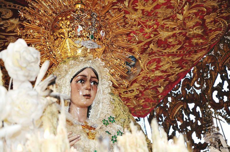 Virgin of macarena in church