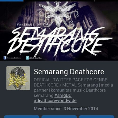Go follow this fanspage @SMG_DeathCore SUPPORT DC Deathcore Deatcoreworldwide SupportLocalBand Supportlocalmovement Follow Likeforlike Mediapartner Semarang Atlascity Rawk SmgDC IDDC