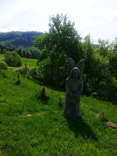 Statue Figure Fresh Green Nature