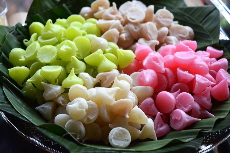Close-up of chopped fruits in bowl
