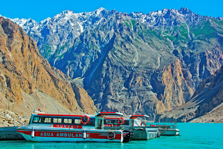 Atabadlake Hunza Water Ambulance🚤 Northern Areas Of Pakistan Enjoying Life Paki_photographers High Mountains Friendlytrip Nature Photography Pakistani Traveller Heaven On Earth EyeEm Nature Lover Pakistan Zindabad <3