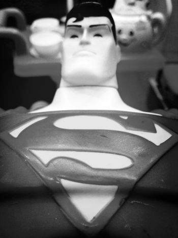 Sman, Superhero Fascination Toy Blackandwhite Photography