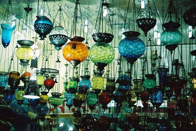 Lamp Shop, Grand Bazaar Abundance Arrangement Choice Colourful Composition Decoration Full Frame Glass - Material Grand Bazaar Hanging In A Row Indoor Photography Indoors  Istanbul Large Group Of Objects Lighting Equipment Market Stall Multi Colored No People Retail  Shop Side By Side Still Life Turkey Variation