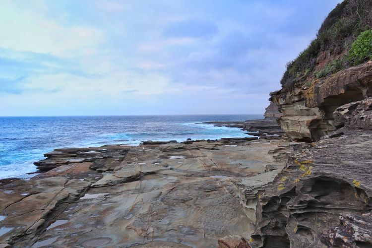 Horizon Horizon Over Water Australia Summer Ocean Nature Hill Fishing Swimming Clouds And Sky Water Sea Beach Wave Cliff Sand Rock - Object Sky Horizon Over Water Cloud - Sky Low Tide Rocky Coastline Eroded Tide Seascape Coastal Feature Headland Geology Surf Coast Rock Formation