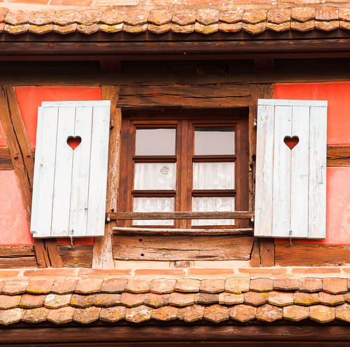 Window 1 Architecture Building Exterior Built Structure Day House Little Hearts No People Outdoors Window Wood - Material