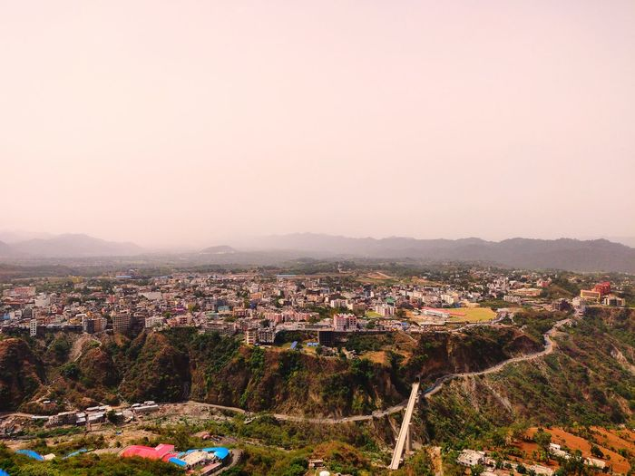 katra Mountain City Cityscape Sunset Agriculture Community High Angle View Town Sky Landscape