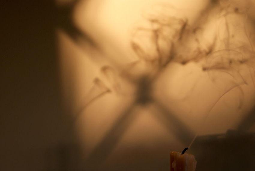 Candellight Candels Effect Indoors  Lifestyles Riflection Smoke Smoke Candle Tranquility