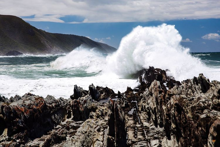 Sea Beauty In Nature Water Nature Wave Power In Nature Outdoors No People Sky Motion Day Horizon Over Water Beach Crash South Africa Aroundtheworld Intotheworld Milesaway