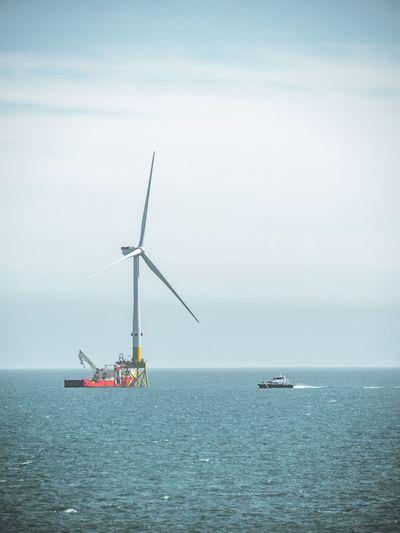 Offshore Wind Power Aberdeenshire Scotland Balmedie Beach Offshore Wind Offshore Wind Power Offshore Wind Farm Wind Wind Turbine Oil Pump Nautical Vessel Sea Wind Power Water Wind Turbine Social Issues Business Finance And Industry Sky Horizon Over Water Renewable Energy Alternative Energy