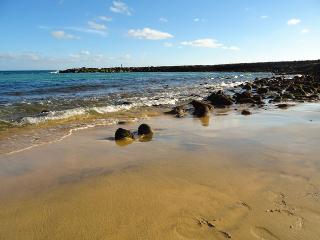Beach Canary Islands Costa Teguise Ebb Ebbe El Ancla Lanzarote Nature November 2016 Playa Sand Sea SPAIN Travel Travel Destinations Water