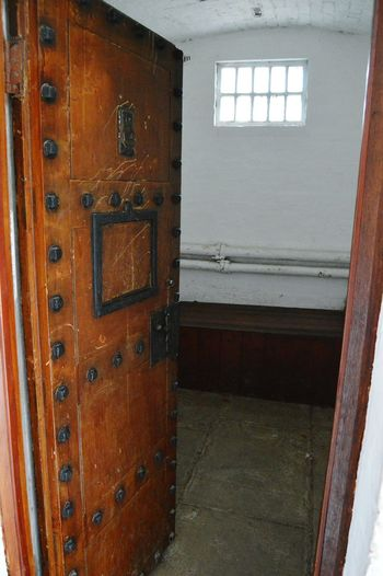 Days Out Prison Block Cellblock Avoncroft Museum Prison Looking Through Cell Wooden Door Banged Up Living History