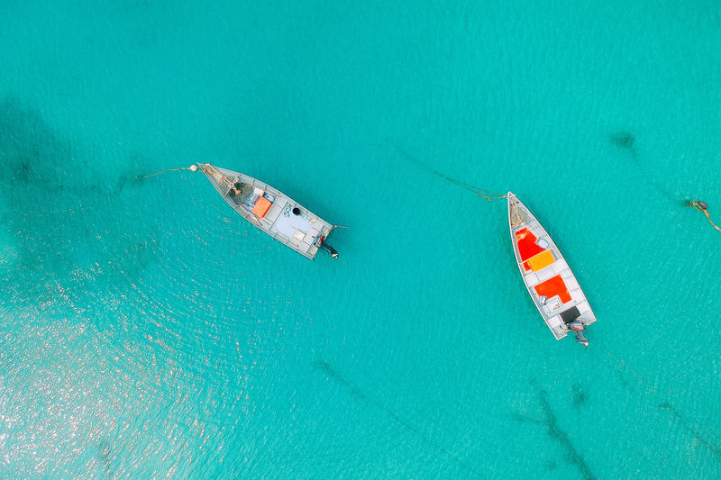 Water Sea Nautical Vessel Turquoise Colored Transportation High Angle View Nature Travel Mode Of Transportation Day Outdoors Underwater Sailboat Scenics - Nature Holiday Vacations Beauty In Nature No People Ship Yacht Luxury
