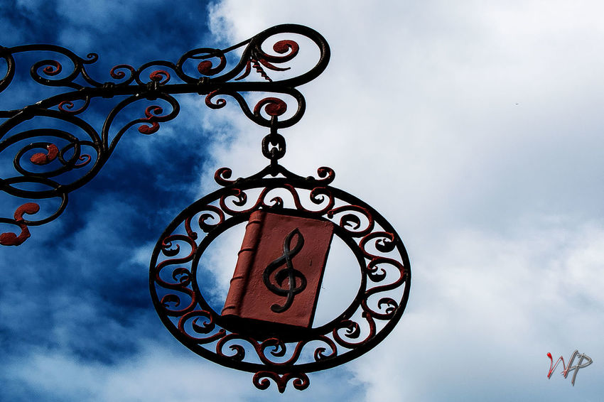 Handcraft Sign - Music Architecture Clef Cloud - Sky Handcraft Low Angle View Music Outdoors Sky