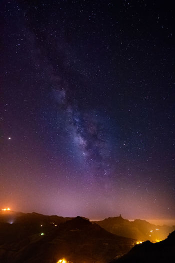 Night views of the sky over Gran Canaria. Spain Canary Islands Clear Sky Dark Gran Canaria Roque Nublo SPAIN Astronomy Astrophotography Beauty In Nature Colorful Galaxy Milky Way Mountain Nature Night No People Outdoors Scenics - Nature Sky Space Star Star - Space Starry Summer Up