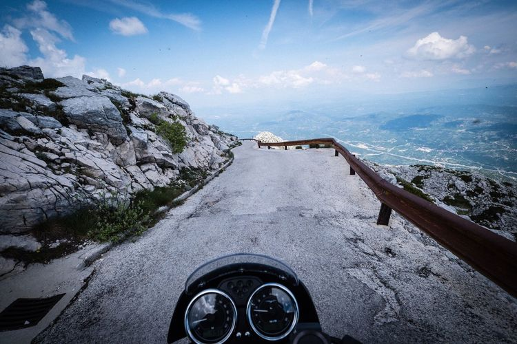 Sveti jure Croatia Sveti Jure Moto Guzzi Transportation Sky Cloud - Sky Mode Of Transportation Nature Road Land Vehicle Personal Perspective Scenics - Nature Outdoors