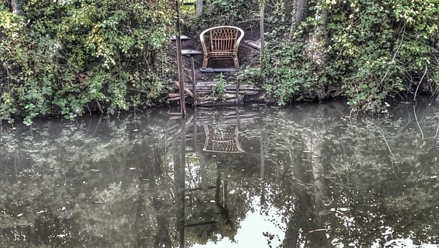 Water Reflections Empty Chair Hdr Photography ReflectionPerfection!