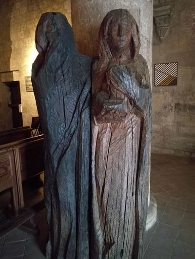 Like a Prayer Vigoleno Castle Sculpture Statue Religion