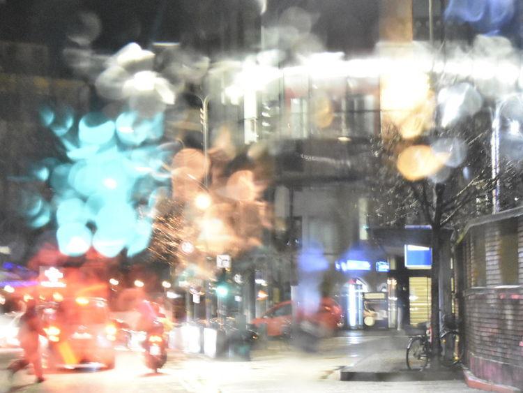 City Illuminated Land Vehicle Car City Life Street City Street Architecture Building Exterior Built Structure Yellow Taxi Traffic Jam Times Square - Manhattan Broadway - Manhattan Avenue Rush Hour Traffic Vehicle Light RainDrop Manhattan - New York City Digital Signage Crosswalk Multiple Lane Highway Road Intersection Stoplight Rainy Season Taxi Light Trail Tail Light Monsoon