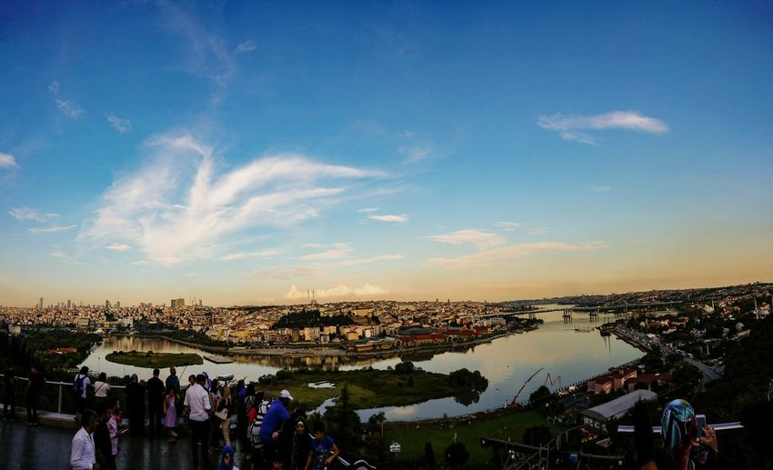 Istanbul City Crowd Sunset Arts Culture And Entertainment Blue Market Holiday - Event Sky Cloud - Sky