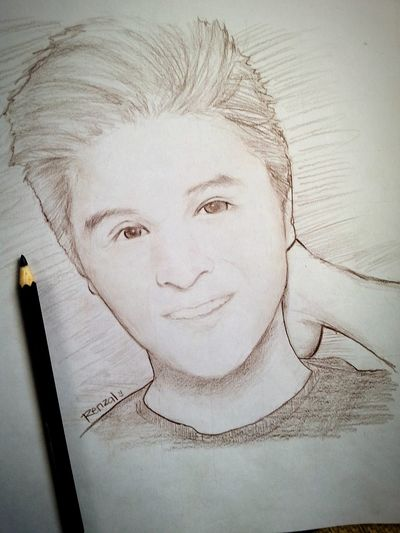 Rip Jam Condolence To Your Family Quick Sketch Dark Brown Color Pencil Drawing.