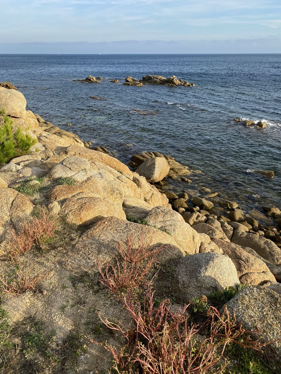 rock, sea, rock - object, solid, water, sky, beauty in nature, scenics - nature, beach, land, tranquility, nature, horizon over water, day, no people, tranquil scene, horizon, rock formation, non-urban scene, outdoors, rocky coastline