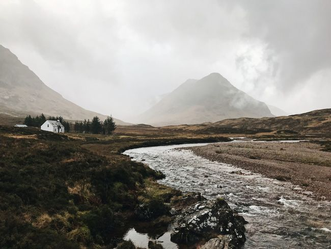 Glencoe Scotland Scottish Highlands Mountain Sky Beauty In Nature Cloud - Sky Scenics - Nature Water Landscape Environment Nature Tranquil Scene Tranquility No People Non-urban Scene Mountain Range Mountain Peak Outdoors The Way Forward The Week on EyeEm
