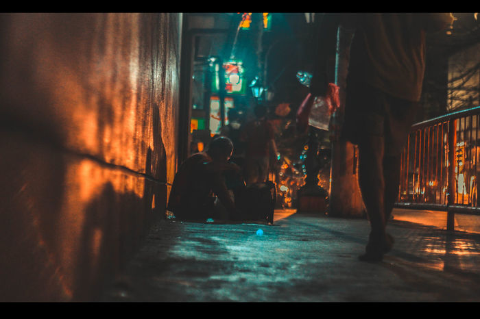 A homeless man that has dedication to learn -nothingIsImpossible #Street Art #homeless #homeless #manila #philippines #poverty #streetphotography #studying  Second Acts EyeEmNewHere