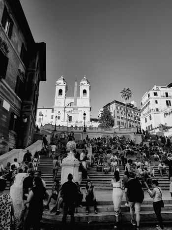 Large Group Of People Religion Architecture Travel Destinations Spirituality People Outdoors Day City Vacations Rome City Moving Around Rome