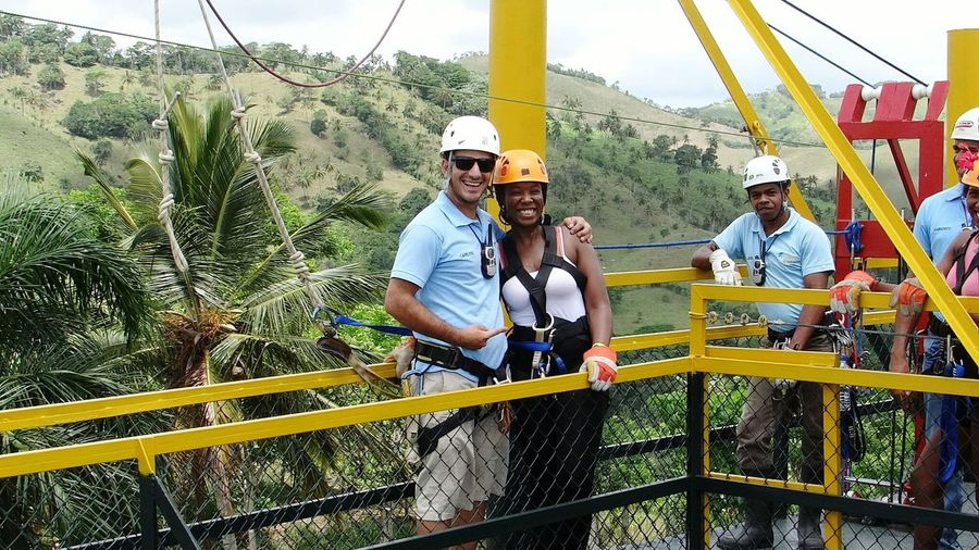 Feeling On Top Of The World Ziplining Adrenalinejunkie Tropical Paradise reminds me of Jurassicpark