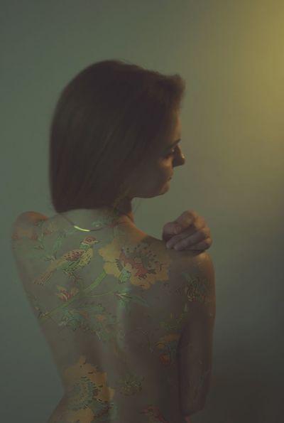 Woman Flowers цвета колорит Colors Nudie студия Tattoo Life