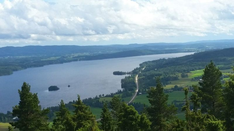 Mountain Fryken View View From Above Sunne Värmland July2016