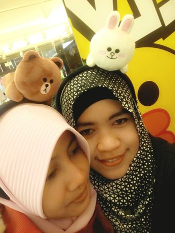 Me & my dear friend..😁 Linefriends Wefie Happysunday