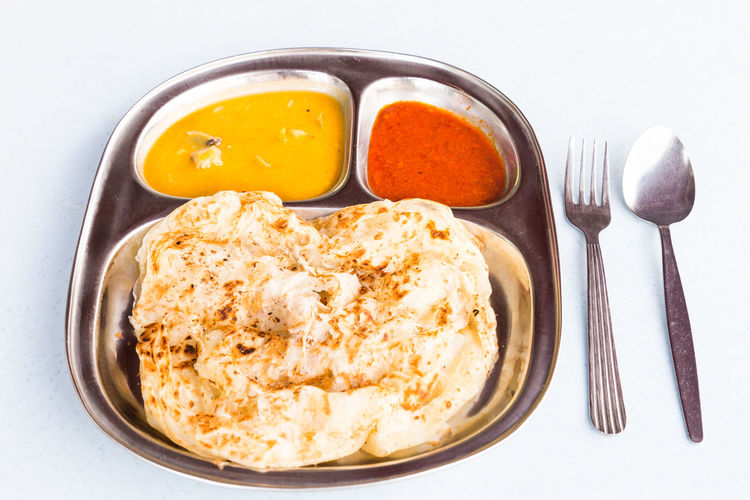 Breakfast Curry Indian Food! Malaysia Food Breakfast Food And Drink Healthy Eating No People Popular Ready-to-eat Roti Canai