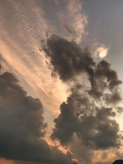 Beauty In Nature Sky Cloud - Sky Sunset Tranquility Cloudscape Dramatic Sky Nature Nature_collection Clouds Atardecer Naturelovers Clouds And Sky