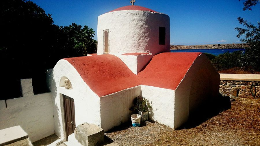 Wedding chapel Chapel Greece Church Sea And Sky Memories St Sotaris Lindos Outdoors Travel Destinations Sky Tourism Vacations Water Sea No People Tranquil Scene Tranquility Lifestyles Building Exterior UNESCO World Heritage Site Built Structure