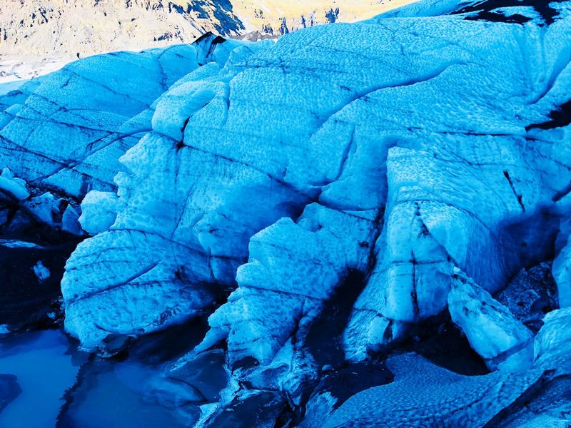 Nature Beauty In Nature Blue Geology Cracked Ice Cold Temperature