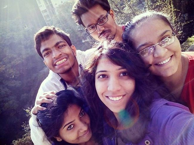 Throwback From the memories of college trip! Coldweather Hillstation Fun Fundays EarlyMorningSelfie Sunrise Flare Sunkiss Meserious Crazy Selfiediary Throwback Ivdiaries Love Pleasant Greenery Heartofnature College Collegetrip Pcacs Fantastic Swag