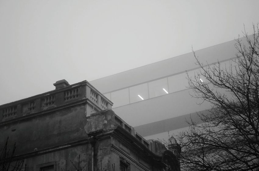 It was a Misty and Foggy Day. Buildings Mist