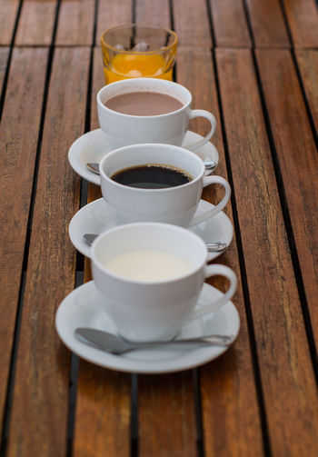 Beverage Close-up Coffee Coffee - Drink Coffee Cup Cup Day Elevated View Empty Freshness No People Refreshment Saucer Selective Focus Still Life Tea Cup Wood - Material Wooden