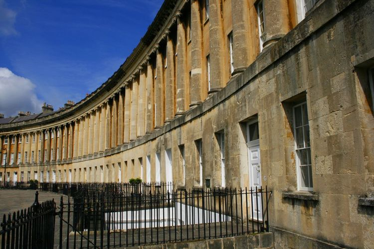 The beauty of historical workmanship in Bath England UK Architectural Column Architecture Bath England Building Exterior Built Structure Crescent Day English Architecture History Houses No People Outdoors Period Architecture Sky Travel Destinations Workmanship