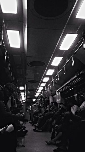 Public Transportation Black & White Black And White Train 10:57 PM