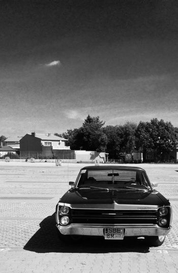 Car Black And White Outdoors IPhoneography Transportation Shadow Land Vehicle Sunlight Tree Mode Of Transport Street Sunny Sky Day Vehicle Solitude Będzin