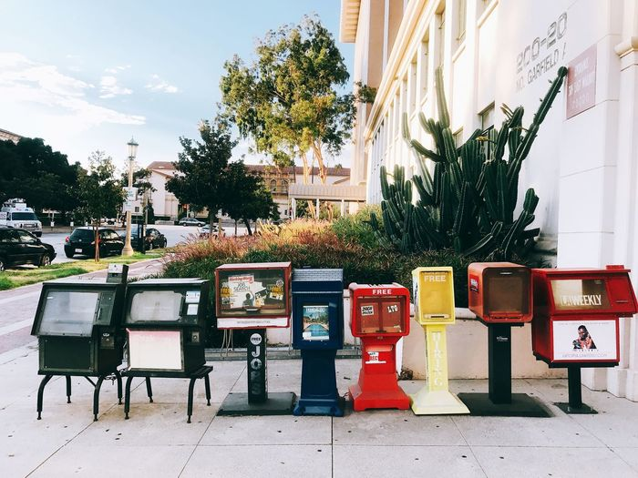 Photooftheday EyeEm Selects EyeEm Best Shots Daily California Colorful Colors Newsstand Plant Tree Nature No People Day Architecture Outdoors Building Exterior Absence End Plastic Pollution