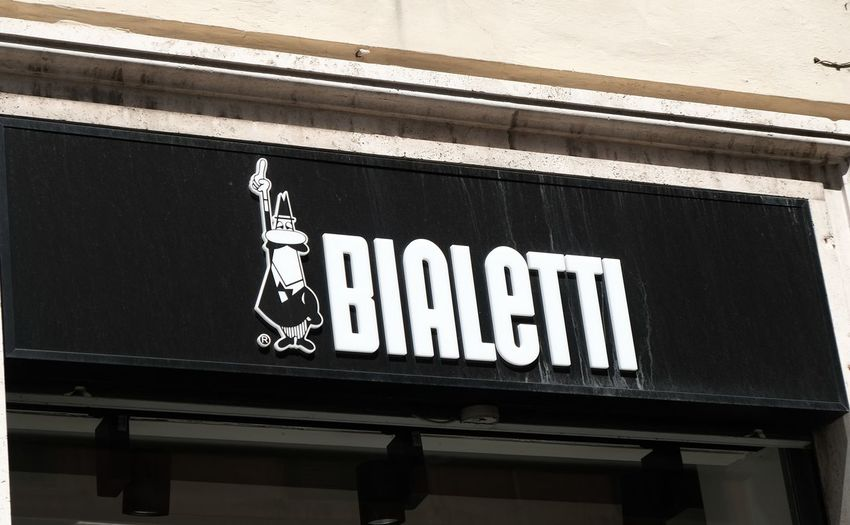 Rome, Italy - August 15, 2017: Bialetti store. Founded in Italy in 1919, the company provides the most famous moka pot, stove-top or electric coffee maker that produces coffee by passing boiling water Bialetti Bialetti Coffee Makers Coffee Shopping Bialettishop Brand Communication Editorial  Italian kitchen utensils Kitchenware No People Outdoors Retail  Shop Store Text